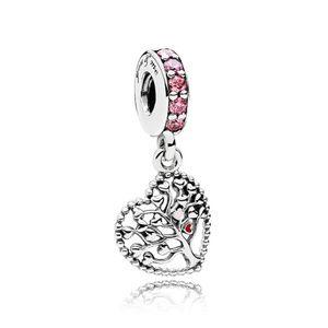 Pandora Pink Family Tree Dangle Charm